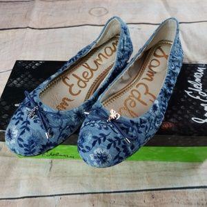 NEW Sam Edelman Felicia Embroidered Ballet Flats